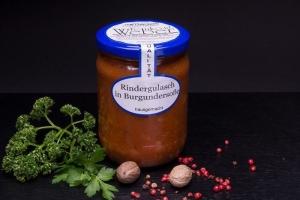 Rindergulasch mit Paprika im Glas 500g (1 Glas / Versandgewicht ca. 830g: Inhalt ca. 500g)