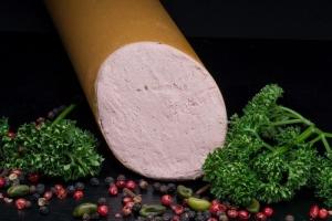 Feine Kalbsleberwurs - Hausgemacht - frisch (Gewicht frische Frankfurter Leberwurst: 250g frische Kalbsleberwurst)