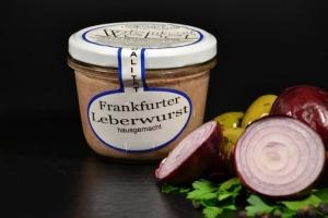 Frankfurter Leberwurst im Glas 200g - mit Naturgewürzen (1 Glas / Versandgewicht ca. 365g: Inhalt ca. 200g)