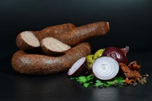 Frankfurter Leberwurst geräuchert  und getrocknet - hausgemacht (Gewicht Frankfurter Leberwurst geräuchert: 250g geräucherte Leberwurst)