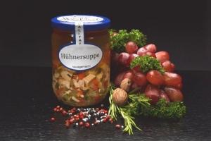Hühnersuppe  -  im Glas 550 ml (1 Glas / Versandgewicht ca. 830g: Inhalt ca. 550g)