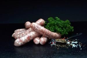 Kümmelchen- Bratwurst - hausgemacht (Gewicht: 5 Kümmelchen-Bratwürste ca. 225g)