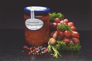 Lammhaxe in Burgundersoße im Glas 500g (1 Glas / Versandgewicht ca. 830g: Inhalt ca. 500g)