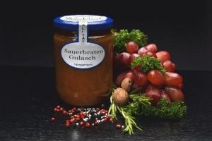 Sauerbraten Gulasch im Glas 500g (1 Glas / Versandgewicht ca. 830g: Inhalt ca. 500g)