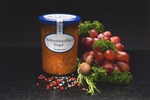 Schweinefilet-Topf  im Glas 550g (1 Glas / Versandgewicht ca. 850g: Inhalt ca. 550g)