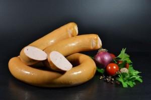 Feinkost Sulzbacher Fleischwurst im Ring 450g - Gold prämiert (Gewicht: 420g)