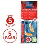 Sohlenwärmer 5er Vorteilspack- the heat combany - ca.  8 Stunden warme Füße- ab Größe 36-40