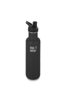 Klean Kanteen Edelstahl schwarz matt Trinkflasche Sport 800 ml