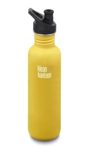 Klean Kanteen Edelstahl Lemon Curry matt Trinkflasche Sport 800 ml