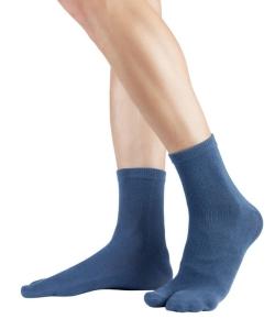Knitido Traditionelle Tabi Zwei-Zehen Kurzsocke blau (Größe: Größe 35-38)