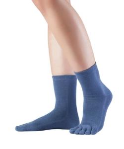 Knitido Essntials midi Zehensocken blau (Größe: Größe 35-38)