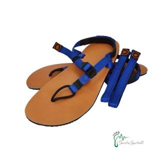 aborigen Sandals - Huarache CueroV2 blau -incl. Strap Plus - Ledersohle (Größe: EU 42 / 27,3 cm - 27,9 cm)