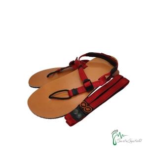 aborigen Sandals - Huarache CueroV2 - incl. Strap plus rot - Ledersohle (Größe: EU 38 / 24,6 cm - 25,2 cm)