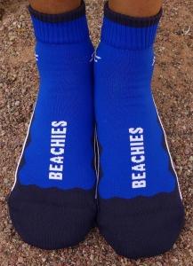 BEACHIES vegane Barfußschuhe –uni-blau Strandsocken - Aquasocke-Wattsocken (Größe: 36-38)
