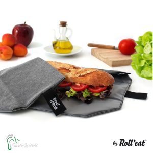 Roll′eat nachhaltige Pausenbrot-Verpackung - grau