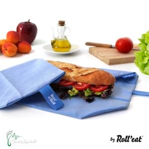 Roll′eat nachhaltige Pausenbrot-Verpackung - blau