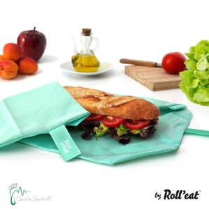 Roll′eat nachhaltige Pausenbrot-Verpackung - mint