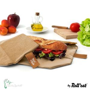 Roll′eat nachhaltige Pausenbrot-Verpackung - brown
