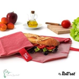 Roll′eat nachhaltige Pausenbrot-Verpackung - zartrosa