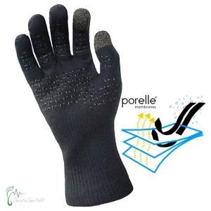Thermfit-Neo - wasserdichte Fingerhandschuhe mit Membran (Größe wasserdichte Handschuhe: small - in schwarz)