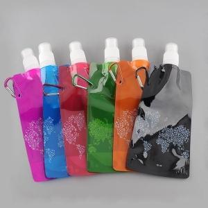 Faltbare Wasserflasche 480ml in verschiedene Farben (Farbe: Schwarz)