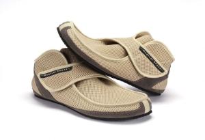 MS Recovery beige -ultraleichte Magical Shoes -  Klettverschluß- Barfußschuhe (Größe: Größe EU 35 / 219 mm)