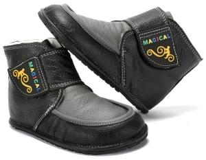 Winter Kinder Barfußschuhe Magical Shoes Ziu Ziu schwarz (Größe: 30 20,0 cm Innenlänge 8,2 cm Innenbreite)