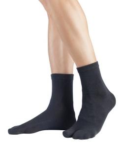 Knitido Traditionelle Tabi Zwei-Zehen Kurzsocke schwarz (Größe: Größe 35-38)