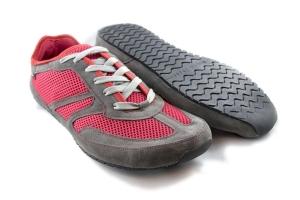 MS Receptor rot vegan - ultraleichte Magical Shoes Schnür Barfußschuhe-Laufschuh Größe 36-50 (Größe: Größe EU 43 / 276 mm)