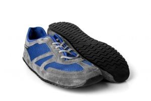MS Receptor Explorer blau-grau- ultraleichte Schnür Barfußschuhe-Laufschuh (Größe: Größe EU 40 / 256 mm)