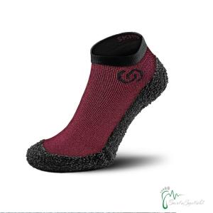 Skinners Socks   Barfussschuhe - Socken mit Sohlen und Zehenschutz - Bordeaux (Größe: XXL EU/FR 47/49)