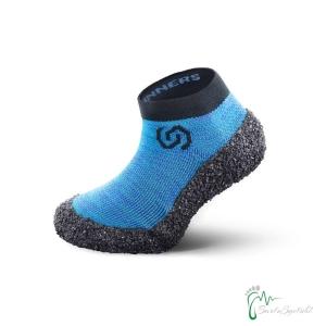 Skinners Socks  Kinder -Barfussschuhe - Socken mit Sohlen und Zehenschutz -ocean blue (Größe: EU/FR 30-32  cm 18,3 - 20)