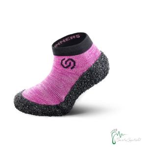 Skinners Socks  Kinder -Barfussschuhe - Socken mit Sohlen und Zehenschutz -candy pink (Größe: EU/FR 26-27  cm 15,7-17)
