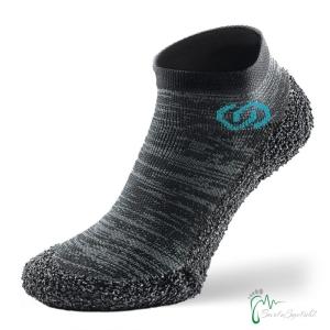Skinners Socks   Barfussschuhe - Socken mit Sohlen und Zehenschutz -metal grey (steel grey) (Größe: XS EU/FR 36/38   22,6cm - 24,1cm)