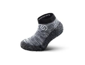 Skinners Socks  Kinder -Barfussschuhe - Socken mit Sohlen und Zehenschutz -granite grey (Größe: S EU/FR 38/40)