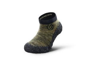 Skinners Socks  Kinder-  Barfussschuhe - Socken mit Sohlen und Zehenschutz - olive green (Größe: XS EU/FR 36/38)