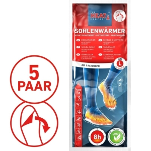 Sohlenwärmer 5er Vorteilspack- the heat combany - ca.  8 Stunden warme Füße- ab Größe 41-46