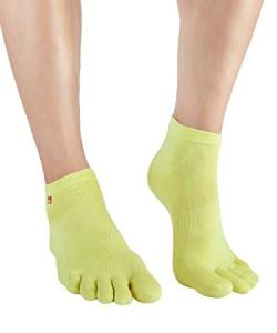 Knitido Track & Trail Ultralite  Zehensocken gelb (Größe: Größe 35-38)