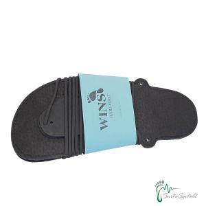 Wins- Huaraches  Barfußsandals schwarz - traditionellen Schnürungen (Größe: EU 40 / 26,6 cm l / 11,4 cm b)