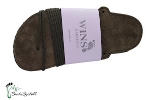 Wins- Huaraches  Barfußsandals braun- traditionellen Schnürungen (Größe: EU 37 / 24,5 cm l / 10,6 cm b)