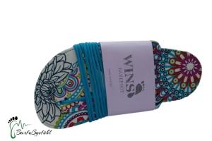 Handgemachte Wins Barfußsandale - traditionellen Schnürungen - Mandala (Größe: EU 39 / 26,0 cm l / 11,2 cm b)