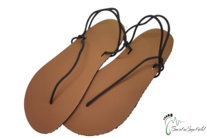 Barfußgefühl Sandals- vegan - braun/schwarz - Huarache (Farbe: EU 36 / 23,3 cm - 23,9 cm)