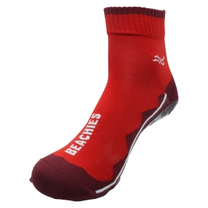 BEACHIES  Wattsocken / Aquasocken  – rot-rot-Welle (Größe: 36-38)