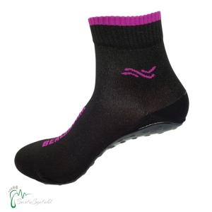 BEACHIES-HX Sohle- Wattsocken / Aquasocken- schwarz-pink (Größe: 41-43)