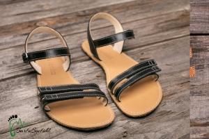 be lenka-Sommer Sandalen-Barfußsandalen schwarz (Größe: EU/37  24,0  lang cm  9,6 cm breit)