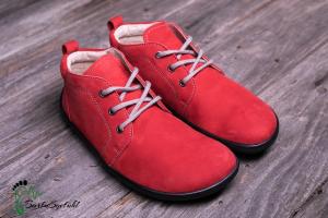 be lenka-Icon- Barfußschuhe-Wildleder-rot (Größe: EU/38  24,5 cm lang 9,5 cm breit)
