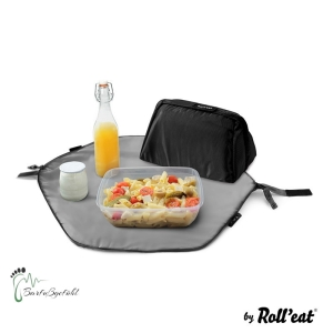 Roll′eat - Eat′n′out Mini Eco Lunchbag, 1.25l schwarz