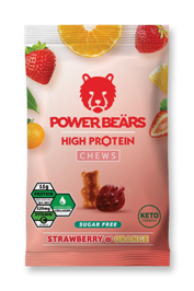 Power Beärs Protein Chews - Strawberry & Orange