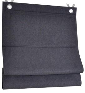 Raffrollo / Ösenrollo Dimout  zum komplett werkzeuglosen Aufhängen   anthrazit - Breite 45 - 100 cm (Breite des Raffrollos / Ösenrollos: 45 cm x 130 cm)