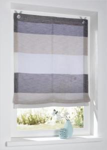 Raffrollo / Ösenrollo Marit zum komplett werkzeuglosen Aufhängen   creme - Breite 45 - 100 cm (Breite des Raffrollos / Ösenrollos: 45 cm x 120 cm)